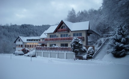 Hotel Haus am See in de winter