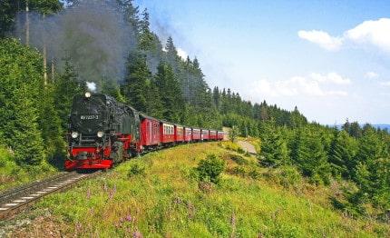 Brockenbahn met stoomtrein