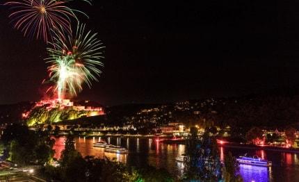 Rhein in Flammen in Koblenz (8 aug 2020)