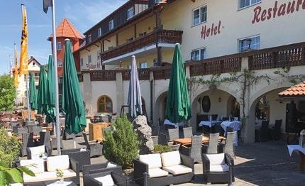 Hotel Edelfinger Hof terras